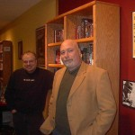 With Paul Lutz, owner of the late Dead End Books on Long Island.