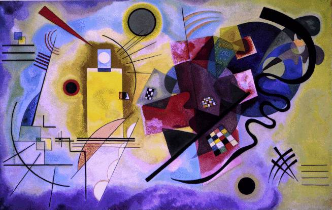 Yellow, Red, Blue by Wassily Kandinsky. 1925
