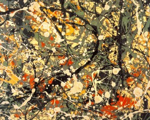 Number Eight (detail) by Jackson Pollock. 1949